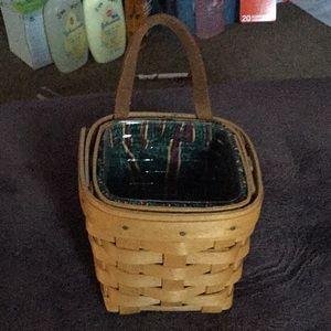 1996 mini hanging Longaberger Basket