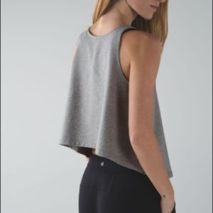 Lululemon Blissed Out Tank in Grey