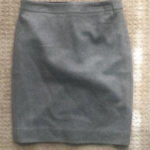 J. Crew Gray Pencil Skirt NWT