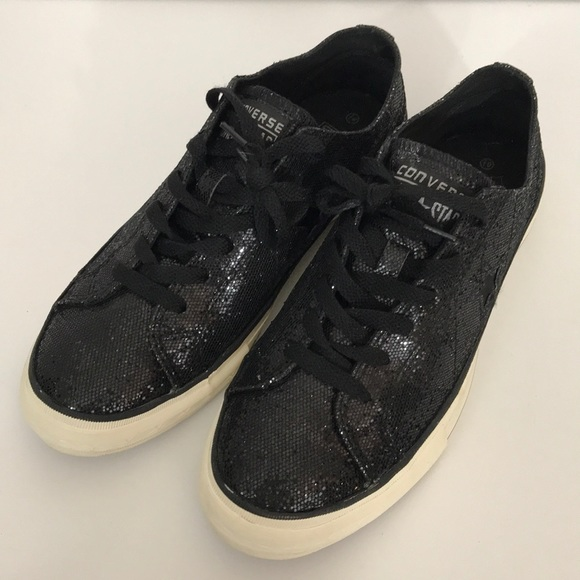 ed87540591dd Converse Shoes - Converse One Star black sparkly sneakers