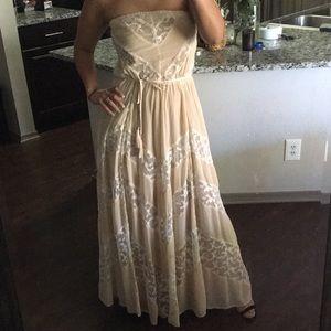 Arden B. Strapless Maxi Dress