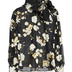 Alice and Olivia Violeta Blouse with neck bow