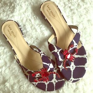 Kate Spade Cape Cod Jeweled Lobster Sandals