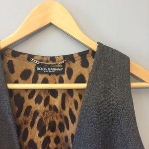 Dolce & Gabbana Tweed Women 's Vest. 44