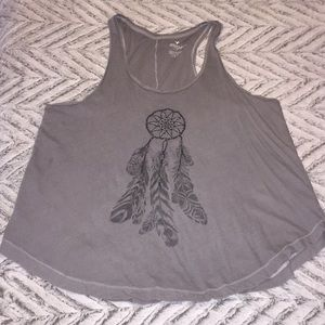 Graphic dream catcher tank top