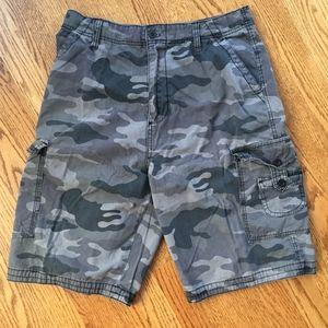 Other - Gray Camo Cargo Shorts