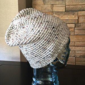 New Hand Crocheted Knit Beanie Winter Hat