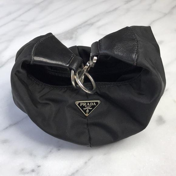 Prada Bags   Small Black Nylon Wristlet Clutch   Poshmark ae7279245f