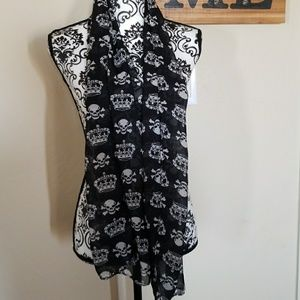 Accessories - Skull and Crown scarf