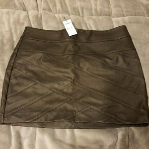 NWT Express Faux Leather Bandage Mini Skirt