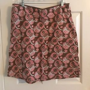 Frenchi A-line skirt, pink and brown, size XL