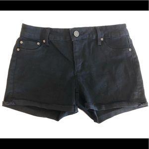 BLACK jean shorts girl's size 14