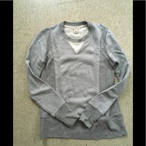 {j crew} factory grey crew sweatshirt XXS