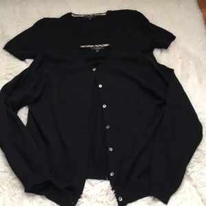 Burberry short sleeve sweater and button up
