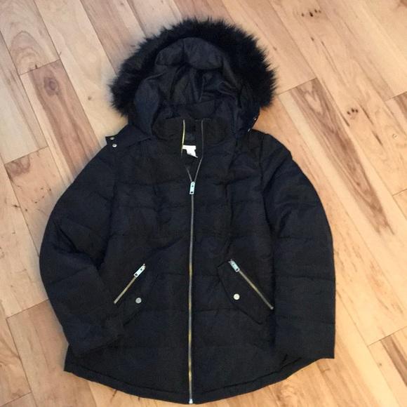 a596e87ee3220 H&M Jackets & Coats | Hm Mama Black Maternity Winter Jacket | Poshmark
