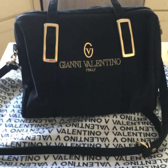 ec875f9482b4fb Valentino Bags | Gianni Logo Black Satchelwshoulder Strap | Poshmark