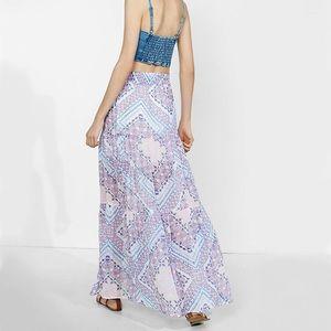 Express purple tapestry chiffon maxi skirt