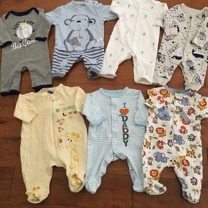 Other - Footed and footless rompers 3m