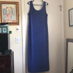 Alex Evenings Womens dress, royal blue sparkly