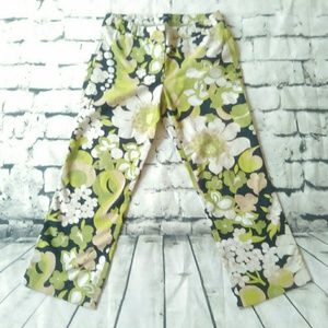 J. Crew Stretch Floral Cropped Pants Size 6
