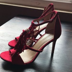 Ann Taylor Suede Tassel Heels