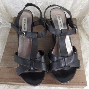 Steve Madden Wedge High Heel Sandals 9