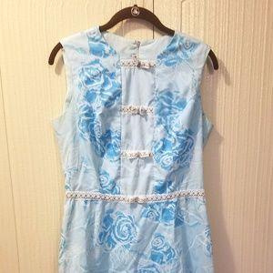 Vintage Baby Blue Sleeveless Dress size 12