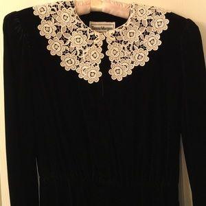Donna Morgan size 13/14 black velvet maxi dress