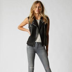NWT! Blank NYC black Leather Vest-M