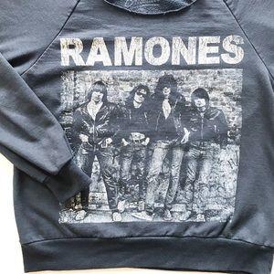 Ramones Cold Shoulder Sweatshirt