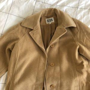 Jackets & Blazers - Bill Blass camel long cashmere+wool coat size 4