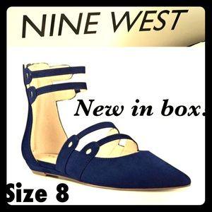 🎁NIB Nine West Sz 8 Navy Flats