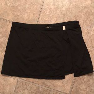Calvin Klein black wrap swim skirt cover up medium