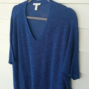 Eileen Fisher Short-Sleeve Organic Linen Tunic