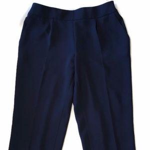 J.Crew Womens Curator Draped Trouser Pant Navy NWT