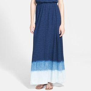 Splendid navy blue dip dye maxi dress