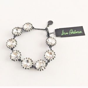 Sam Edelman crystal gunmetal bracelet