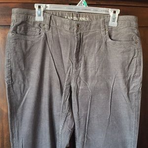 Lands End Mid rise straight corduroy, size 14