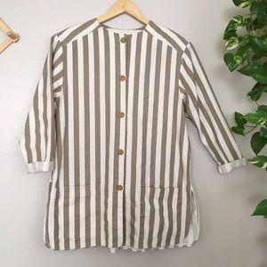 Vintage button down lightweight coat