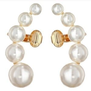 Sam Edelman pearl earcrawlers