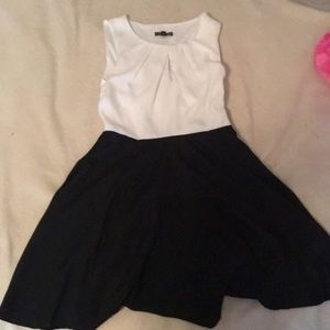 Black and white simple dress