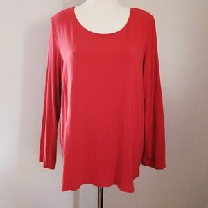 Eileen Fischer Red Long Sleeved T shirt soft and s