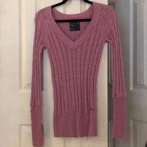 AE v-neck sweater purple size small