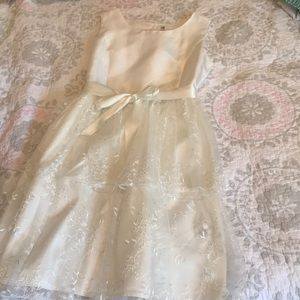 Girls xl (14-16) Cherokee white holiday dress NWOT
