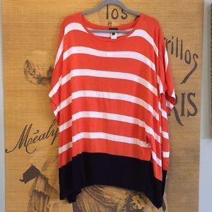NWT! Talbots Striped Batwing Shirt