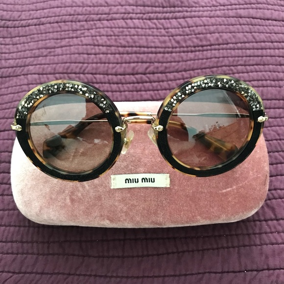 918fb60e028 Miu Miu Embellished Sunglasses. M 5a13327aea3f36b78c0e974b. Other  Accessories ...