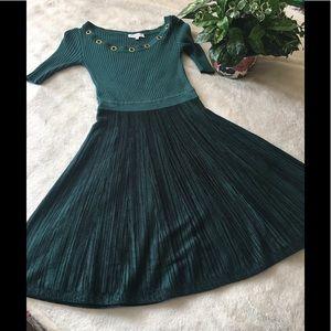 CANDIES GREEN SWEATER DRESS