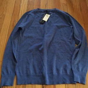 Banana Republic scallopedge blue wool sweater! NWT