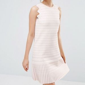 Ted Baker London RELIOA shift knit dress nude pink