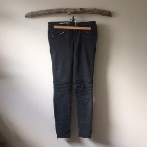 Pilco moto skinny stretch ankle zip pant